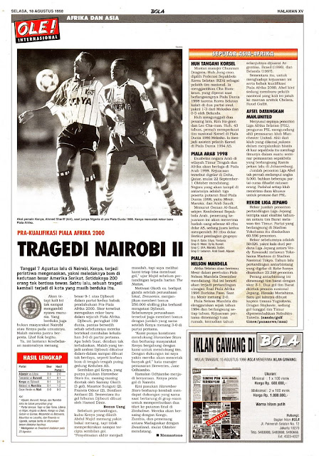 KUALIFIKASI PIALA AFRIKA 2000 TRAGEDI NAIROBI