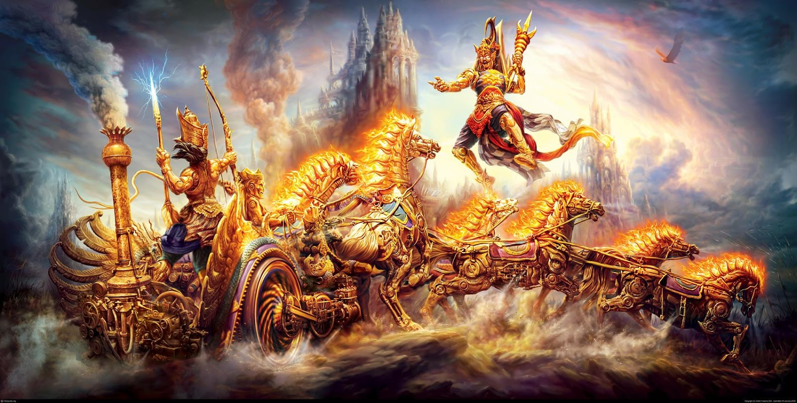 war of mahabharata karana and arjuna