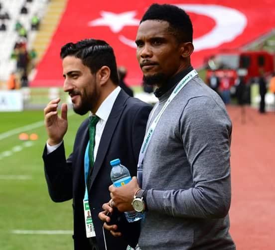 Turquie: Samuel Eto'o au stade pour soutenir Konyaspor face à Buyuksehir d'Adebayor