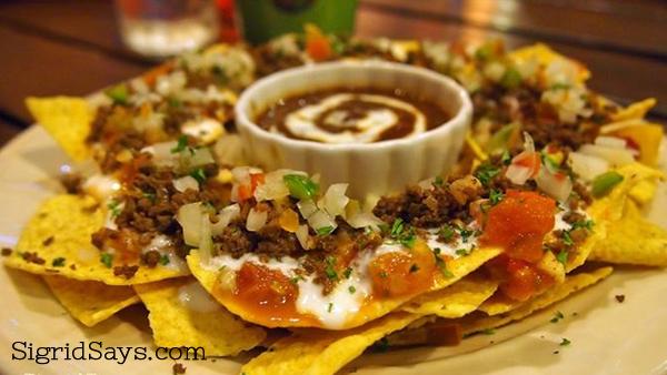 nachos at Fogo Grill