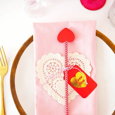 Last Minute Valentine's Day DIY Table Decor
