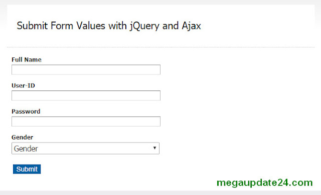 Submit a Form without Refreshing page with jQuery and Ajax