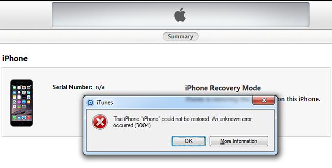 Image result for restore iPhone error 3004