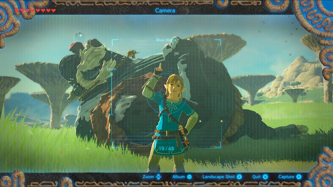 The Legend of Zelda: Breath of the Wild tendrá modo foto