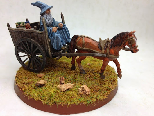FOTM Painting Challenge 2014: Painting Gandalf The Grey on cart