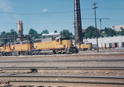 Union Pacific SD40-2 #B4275 at Albina Yard in Portland, Oregon, in Summer 1997