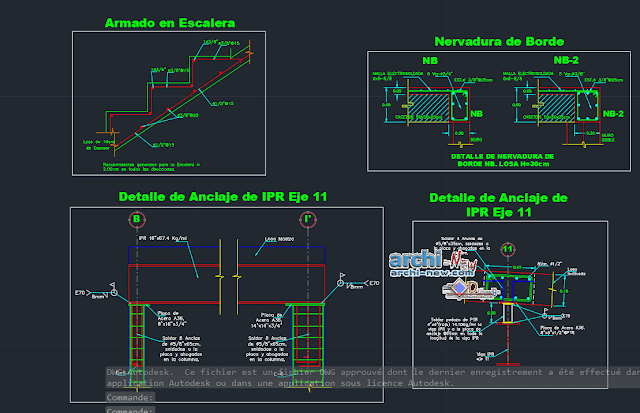 Construction details in AutoCAD