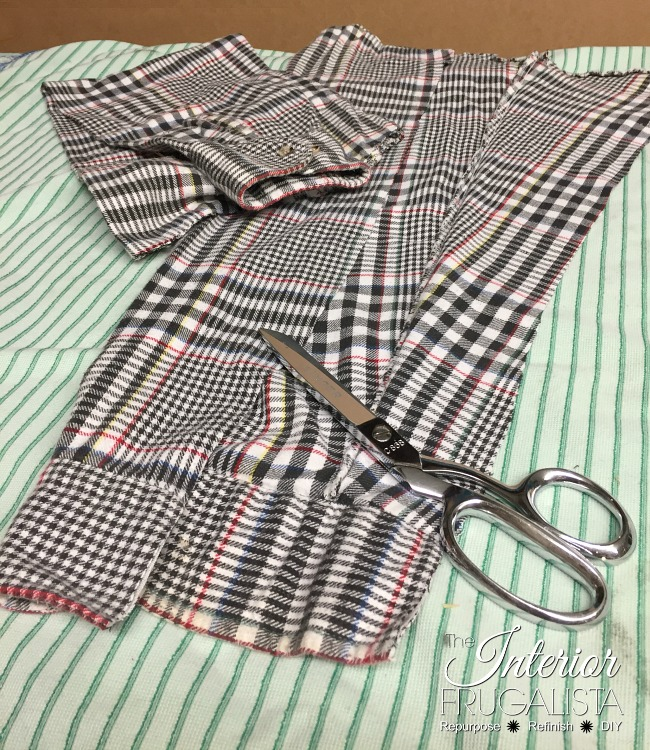 Shirt Sleeves Cut For Fall Flannel Wreath