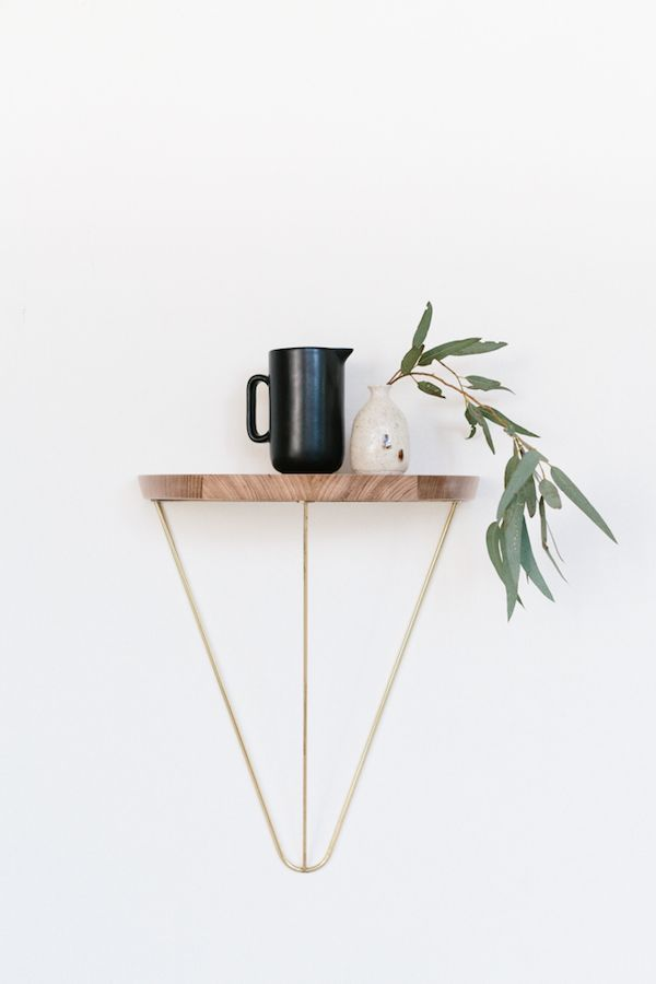 wall mounted geometric table