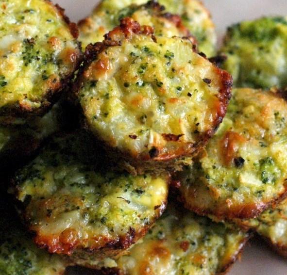 BROCCOLI TOTS #vegetarian #food