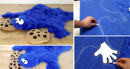 DIY χαλί Cookie Monster