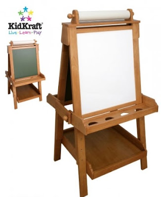 Kidkraft adjustable wooden easel