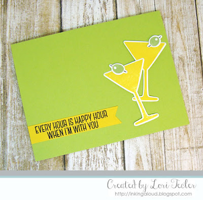 Happy Hour card-designed by Lori Tecler/Inking Aloud-stamps and dies from My Favorite Things