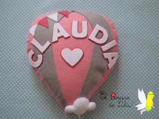 nombre-fieltro-decoración-infantil-felt-feltro-Claudia-regalo-personalizado-name-banner-babyroom-elbosquedelulu-hechoamano