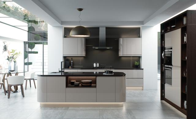 designer kitchens direct.  Kitchens Direct NI The Strada Gloss Cashmere