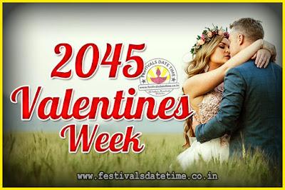2045 Valentine Week List : 2045 Valentine Week Schedule, Hug Day, Kiss Day, Valentine's Day 2045