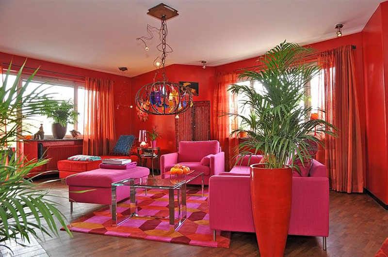 Eye For Design: Decorating With Pink And Orange