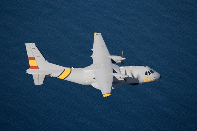 Casa CN-235 of Spain Search and Rescue Inflight