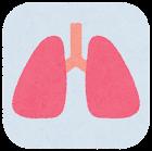 内臓のアイコン(枠付き・肺)