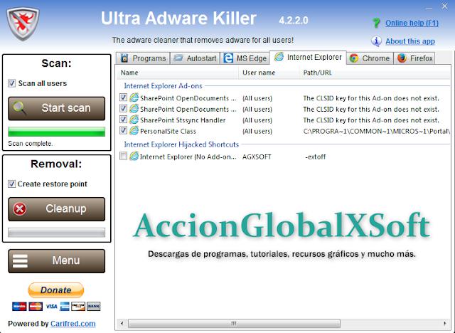 Ultra Adware Killer 5.9.3.0 | Simple pero potente eliminador de adware para Windows | Portable