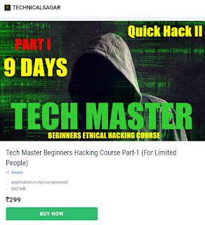 Technical Sagar Tech Master Hacking course Download Free