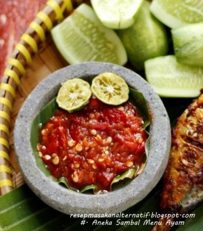 Aneka Resep Sambal Enak Pedas Ayam Goreng/Bakar   Resep Masakan Indonesia Praktis