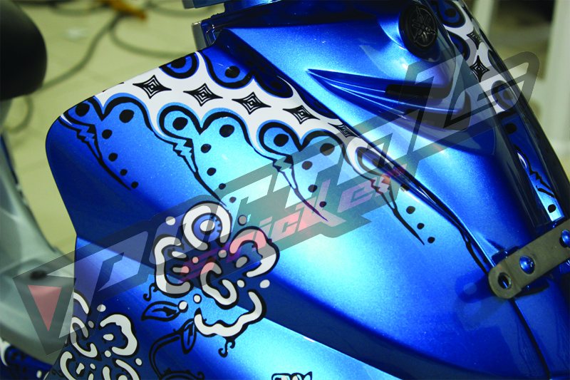 Cutting sticker jupiter z batik design