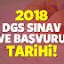 2018 DGS Başvuruları Ne Zaman?