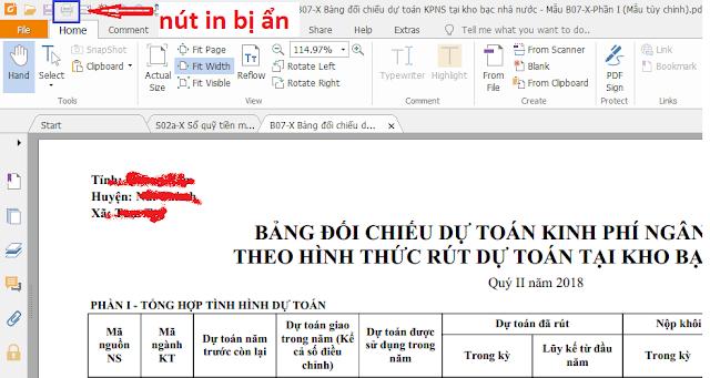 Misabamboo.net Hướng dẫn xuất báo cáo tài chính dạng đuôi .PDF cho phép in ra giấy
