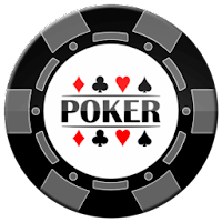 grey and black poker chip