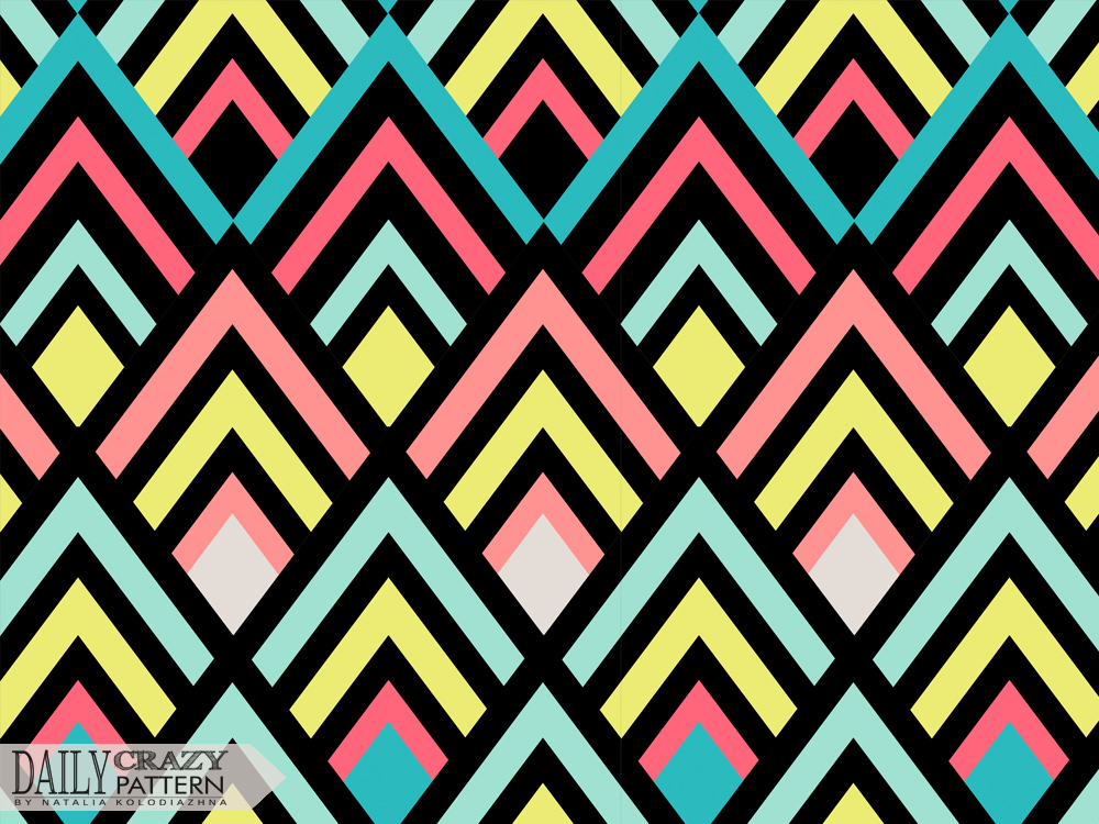 "Bright geometric pattern for ""Daily Crazy Pattern"" project 