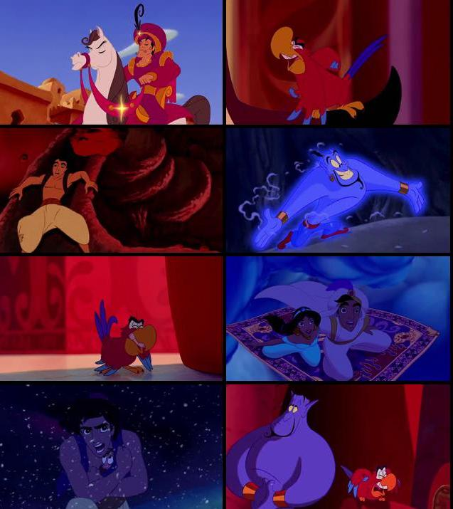 Aladdin 1992 Dual Audio Hindi 720p BluRay 700mb