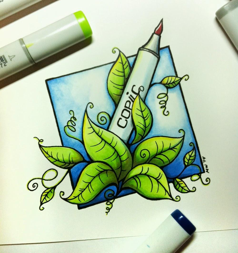 doppel sketch copic marker art