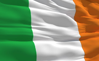 Clipart image of a waving Irish flag