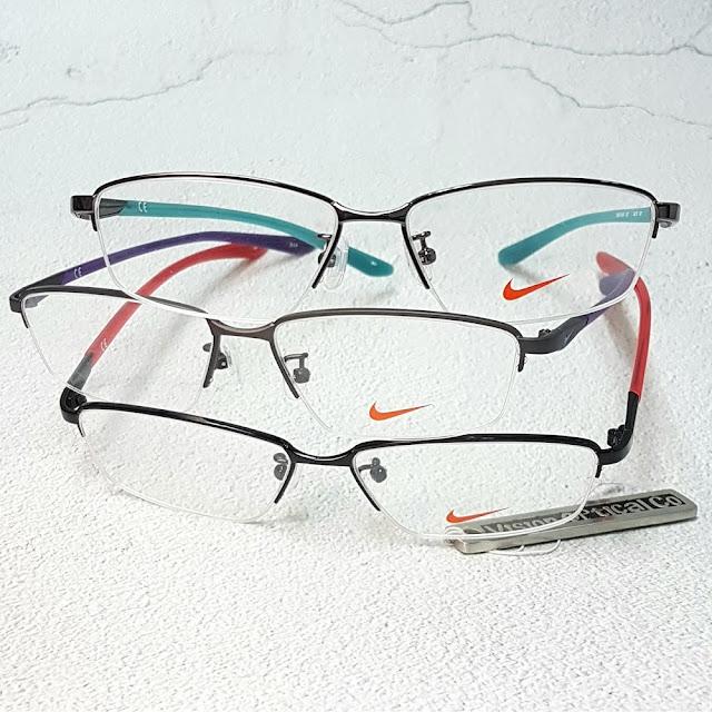 NIKE 8124AF 半框金屬彩臂眼鏡