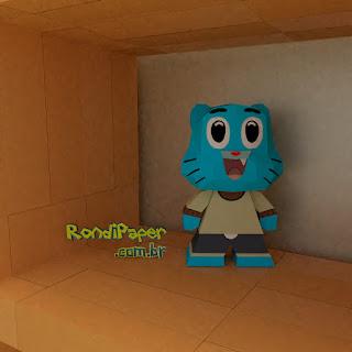 Megaman Funko Papercraft   RondiPaper PaperToy