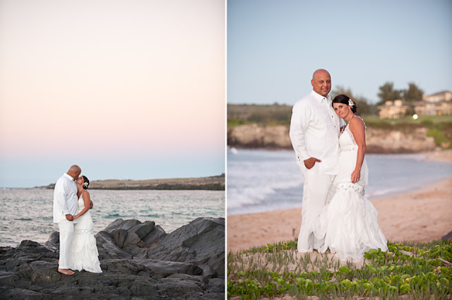 sunset wedding photography at ironwoods beach elopement