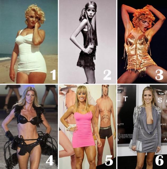 Como eram os padrões de beleza antigamente?