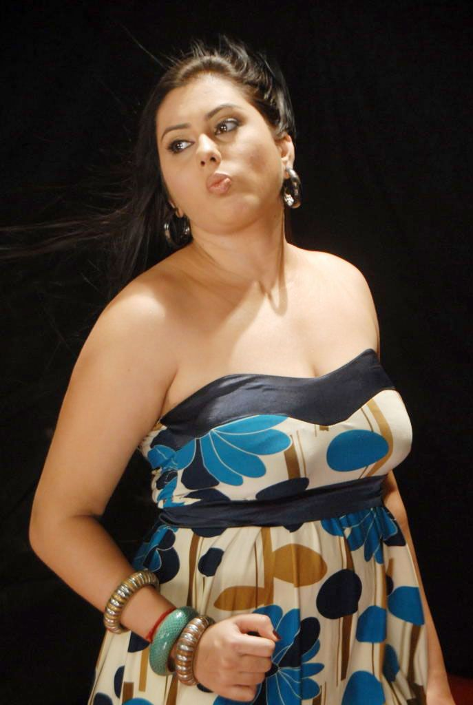 Beauty Galore Hd  Actress Namitha Smoking Hot In Tube Dress Photo Session