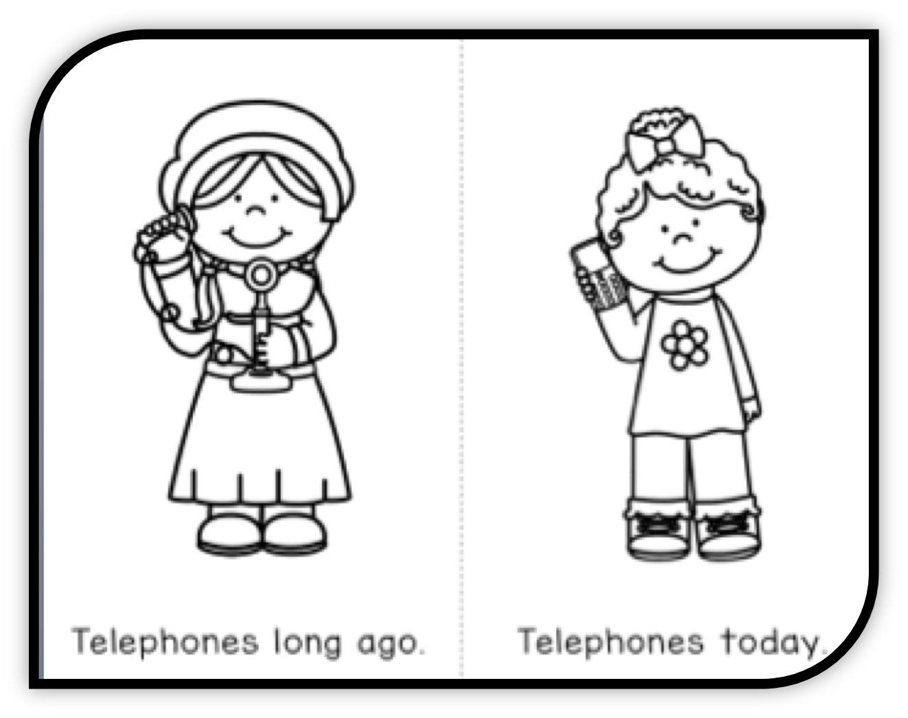 long ago and today, past and present, kindergarten history
