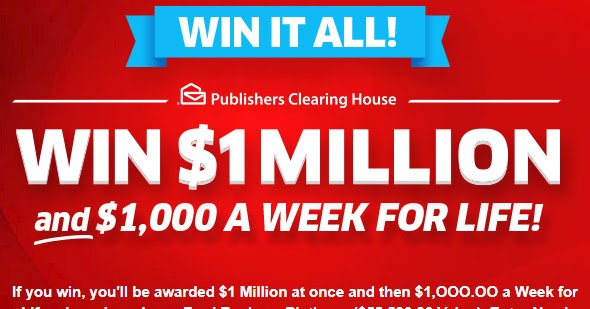 house  sweepstakes win   pch sweepstakes  million cash   week  life