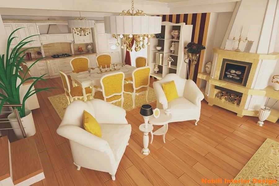 Design interior bucatarie casa clasica Constanta - Design interior case clasice Constanta