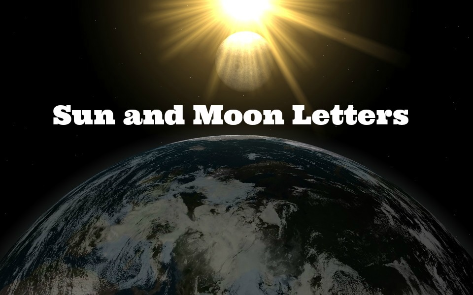 sun and moon letters pdf
