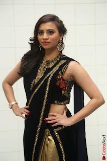 Priyanka Ramana in Beautiful Designer Black Saree At We Craft Elegance Expo Launch 035.JPG