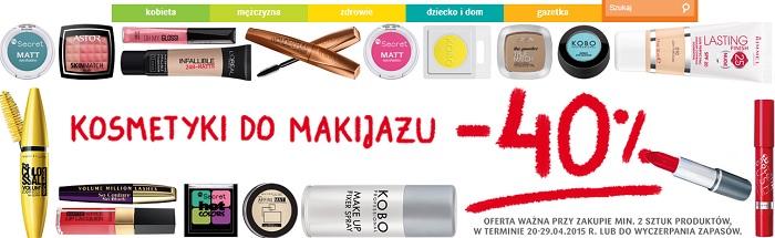 -40% na kosmetyki do makijażu drogeria natura 2015