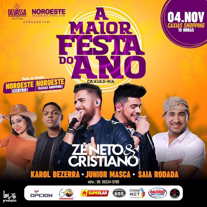 FESTÃO - 04 de Novembro Zé Neto & Cristiano, Saia Rodada, Karol Bezerra, Jr Masca no Caxias Shopping