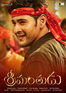 Poster Of Srimanthudu In Dual Audio Hindi Telugu 300MB Compressed Small Size Pc Movie Free Download Only At worldfree4u.com