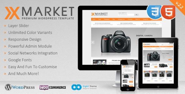 Free download XMarket V2.2 Responsive WordPress E-Commerce Theme