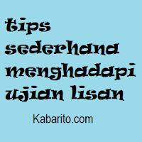 Tips Sederhana Menghadapi Ujian Lisan