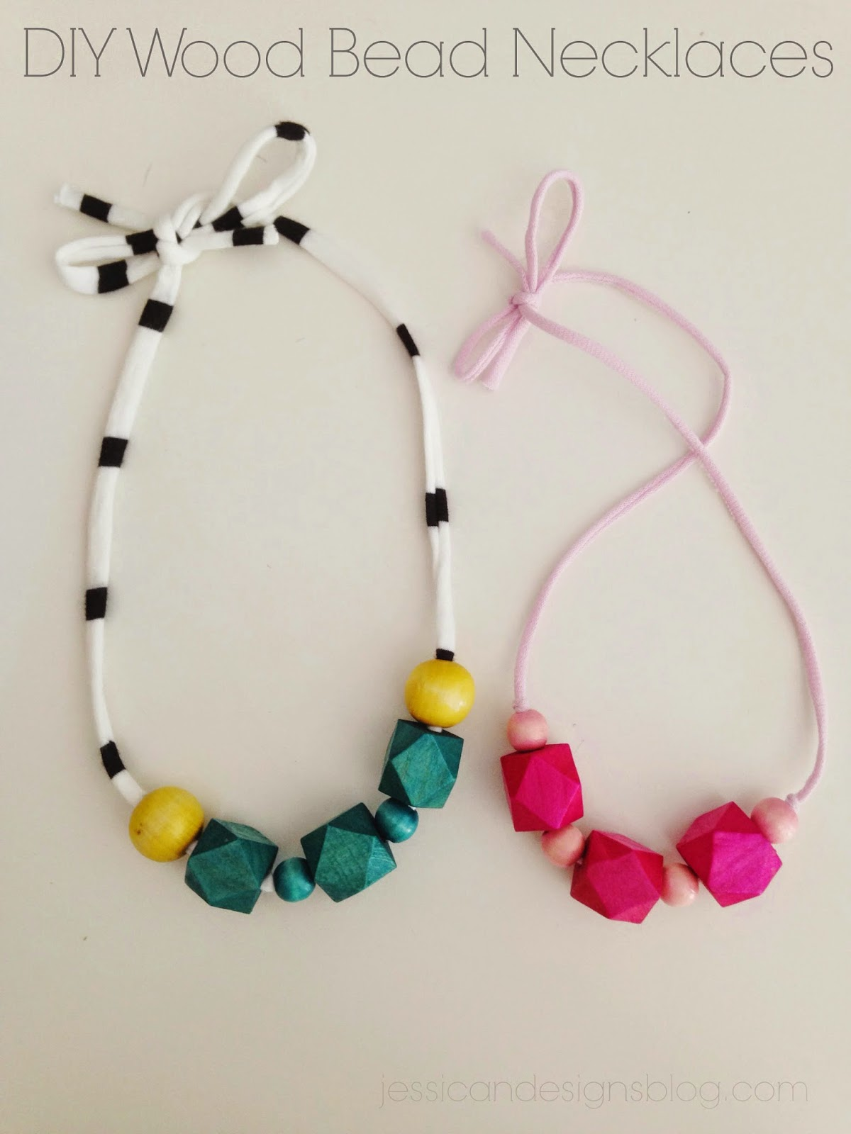 jessicandesigns DIY Wood Bead Necklaces